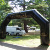 giant inflatable arch with Kumala branding