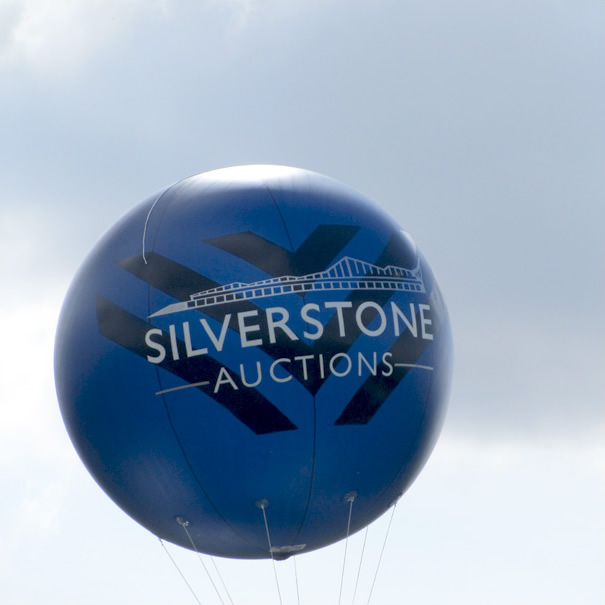 Giant Inflatable Sphere Showing Location of Car Auction