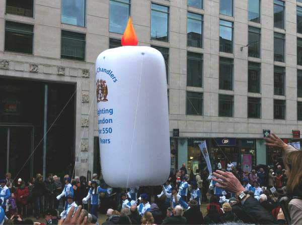 Tallow Chandlers' inflatable candle