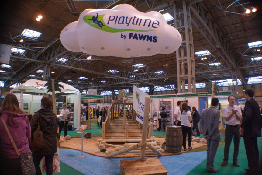 Inflatable Playtime cloud at the Education show
