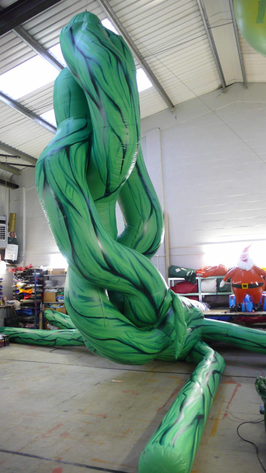 giant inflated beanstalk