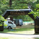 Inflatable black event arch for Kumala