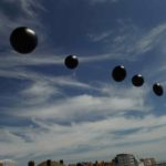 parade spheres in sky