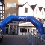 Asics race arch for sporting event