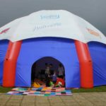 giant inflatable marquee branded