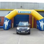 4 column inflatable arch for Michelin
