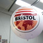 Bristol branded sphere with guy lines