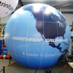 Enormous blue globe for Northrop Grumman exhibition