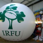 IRFU branded giant sphere