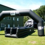 Inflatable bungee run and arch for New Era