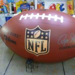 Giant NFL football with artwork