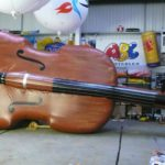 Enormous inflatable violin replica
