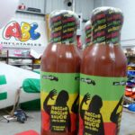 3 Reggae Reggae sauce inflatable replica bottles