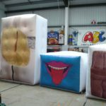 Testing inflatable art in our workshop