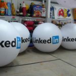 LinkedIn promotional push balls in our workshop