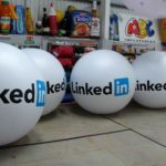 Inflatable spheres for LinkedIn promotion