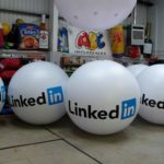 LinkedIn branded giant balls