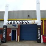 Guinness inflatable rugby posts