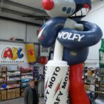 Huge Wolfy inflatable character and man