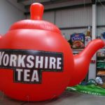 Massive inflatable Yorkshire Tea pot