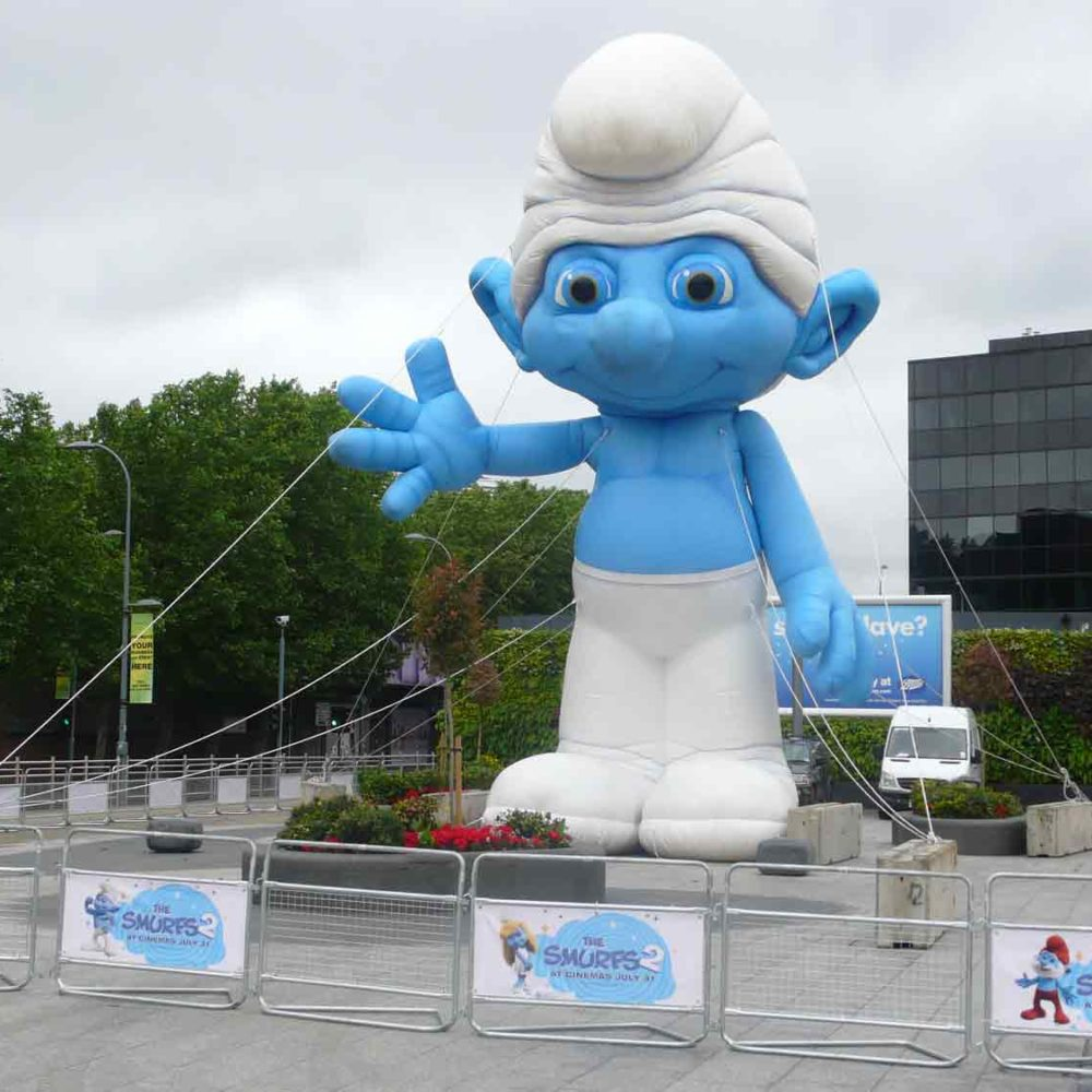 Huge Smurf inflatable in Westfield