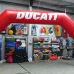 Red Ducati arch by ABC Inflatables