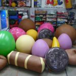 Inflatable replica biscuits and confectionary
