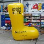 Enormous inflatable yellow wellies for NFU Mutual
