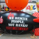 Fire Brigades Union campaign blimp