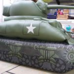 Inflatable WW2 tank for Dad's Army film