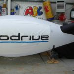 Prodrive branding on rental inflatable blimp