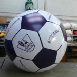 Giant football replica for Premier League in ABC Inflatables workshop