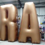 giant inflatable letter art