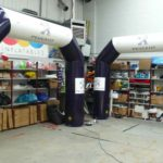 Peugeot branded arches in ABC Inflatables workshop