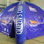 Inflatable tent with branding for Army