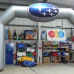 Huge Subaru custom shape inflatable arch