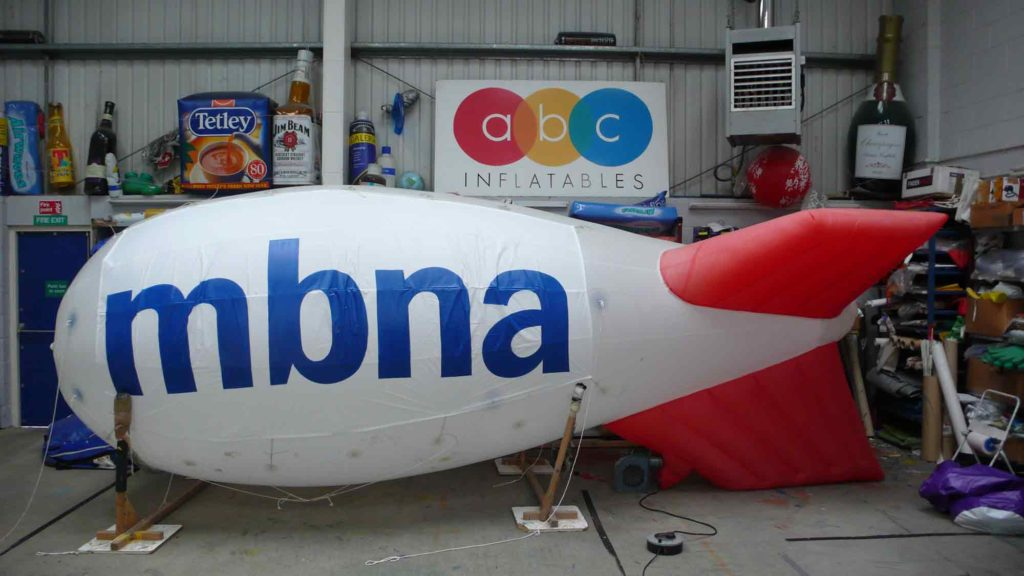 Blimp for hire with temporary branding