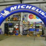 Michelin curved inflatable race arch
