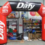 Dafy branded race arch by ABC Inflatables