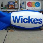 Blue blimp for Wickes in the ABC Inflatables workshop