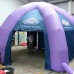 highland spring inflatable marquee