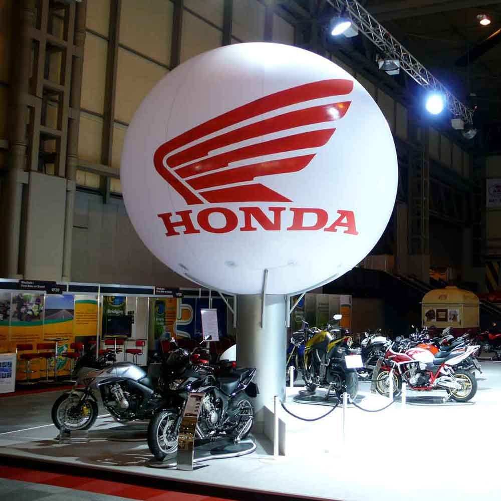 Honda sphere supported on a pillar