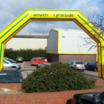 Custom shape inflatable arch for South Tyneside