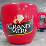 Giant inflatable Grand Mère coffee cup