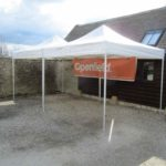 Marquee hired for car park area
