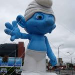 Promotional Smurf for film marketing