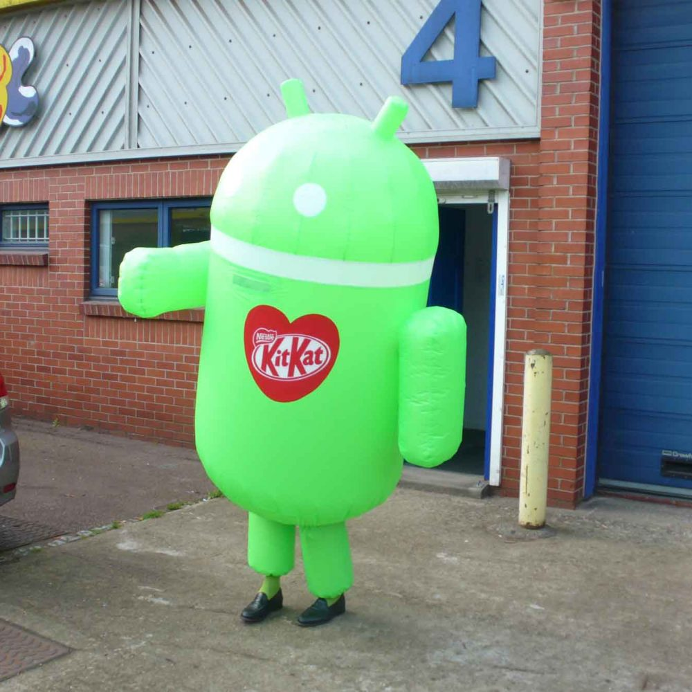 Kit Kat Android inflatable costume