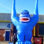 Huge blue gorilla for hire