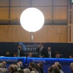 Lighting spheres rented for event