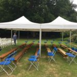 marquees hired and used to shelter seating area